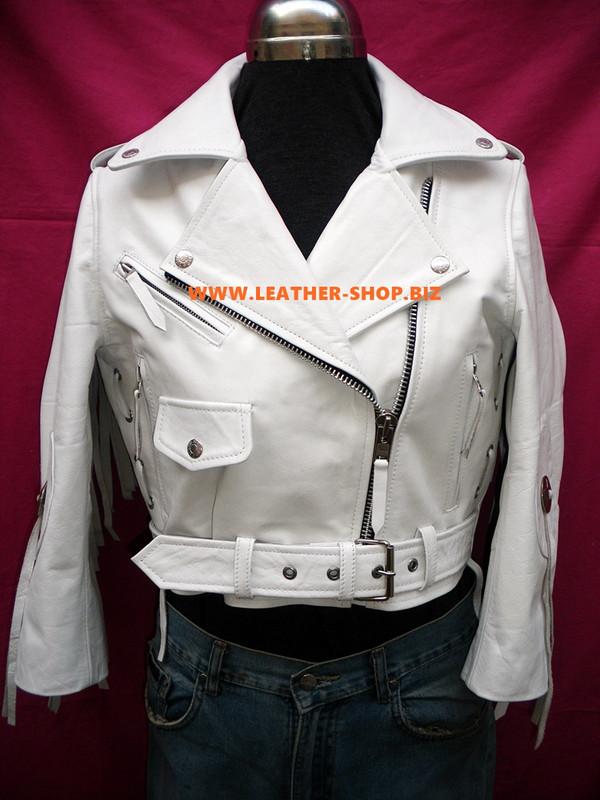 Дамски кожени фрикери яке по поръчка на стил LLFJ1708 на разположение в 8 цветове