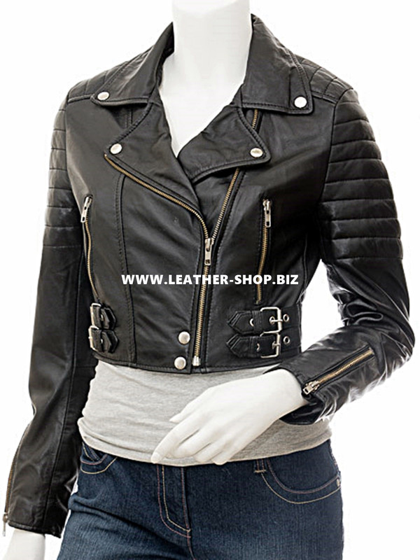 Ladies Leather Jacket Custom Made Motorcycle Style LLJ618 Made In 8 Colors
