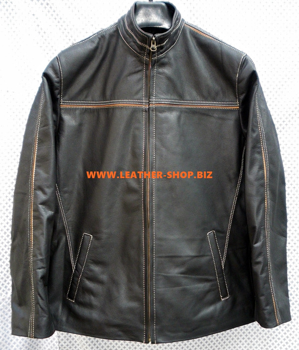Leather Jacket Retro Style MLJ0097 Custom Made In 8 Colors