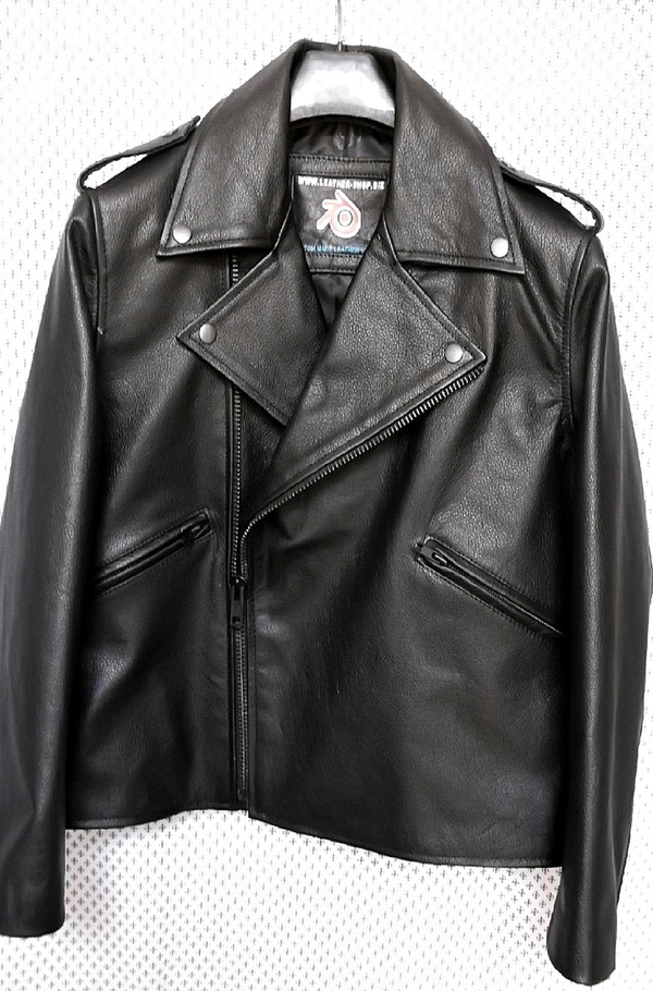 Leather Jacket Biker Style MLJ111 Custom Made In 8 Colors