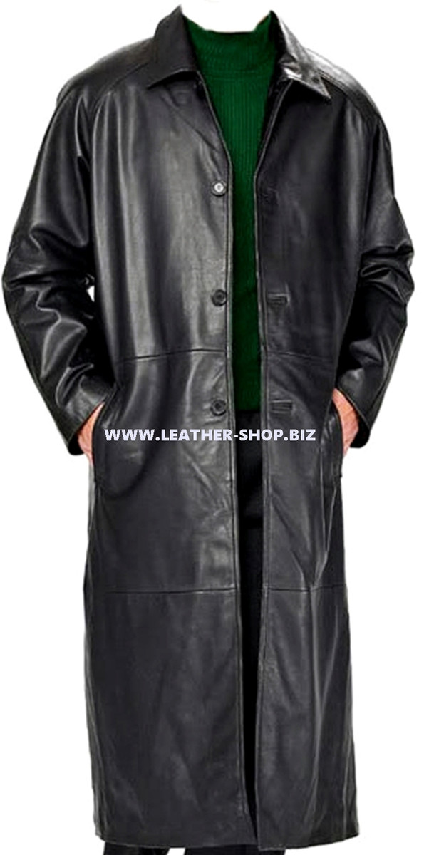 Leather Trench Coat Style MTC689 Custom Made Available In 9 Colors