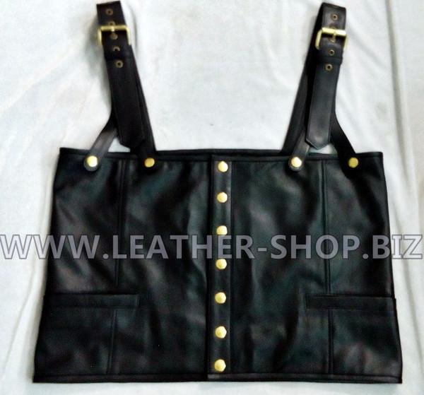 Tupac Shakur leather vest replica vest front pic.