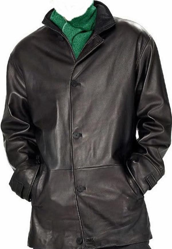 Mens Leather Long Coat custom made www.leather-shop.biz style MLC538