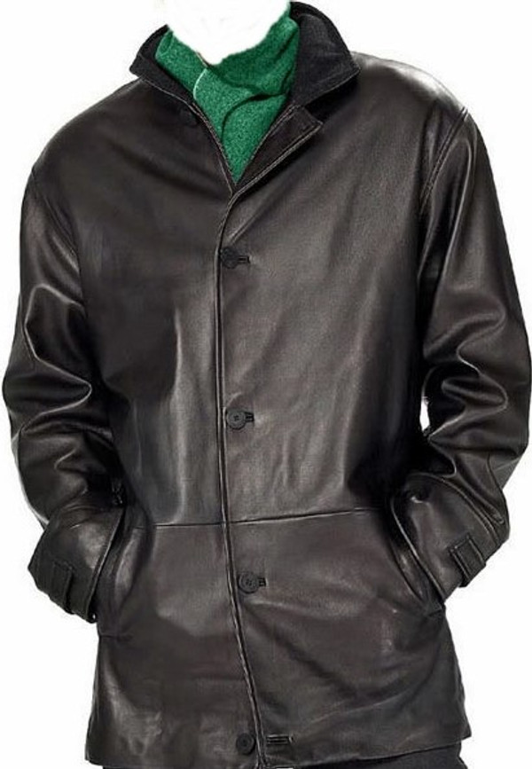 Mens Leather Long Coat custom made www.leather-shop.biz style MLC538