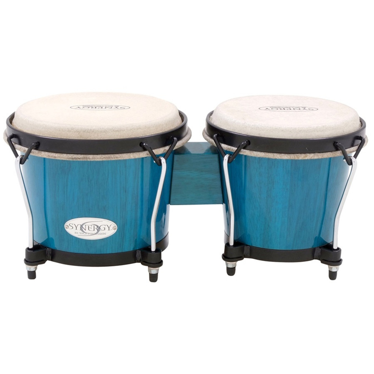 WHITE TOCA SYNERGY SYNTHETIC BONGO DRUMS PERCUSSION