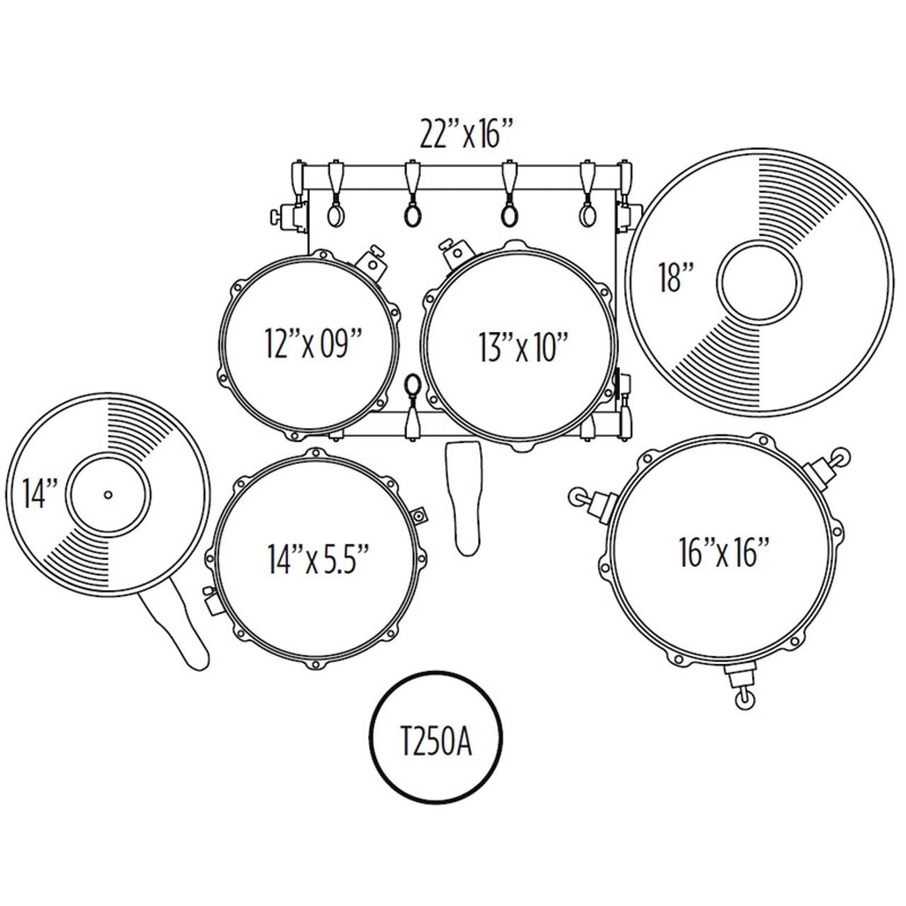 Mapex Voyager Standard Drum Set X8 Drums