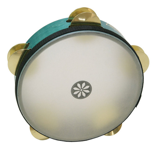 8 Diameter QUADURA/® White 8 Pairs Jingles x 2 Rows Remo Tambourine Pretuned