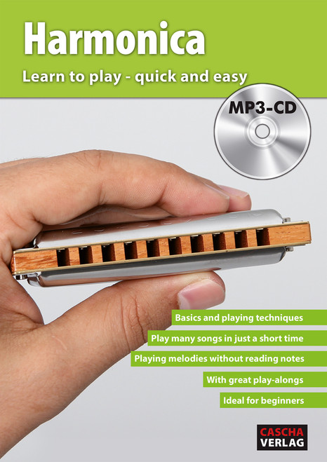 Harmonica - Learn to play quick and easy with MP3-CD