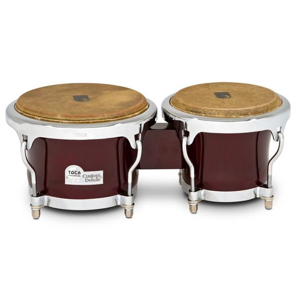 Toca Custom Deluxe Wood Bongos, Dark Wood (4600-DW)