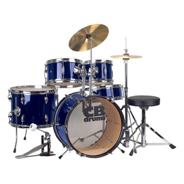 CB Drums Complete 5-Piece Junior Drum Set with Cymbals and Throne