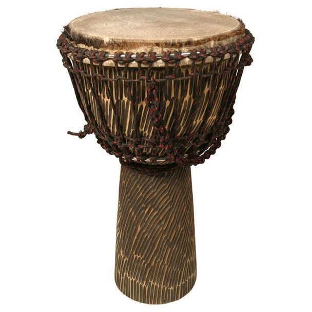 African Djembe: Hand Hewn Rosewood