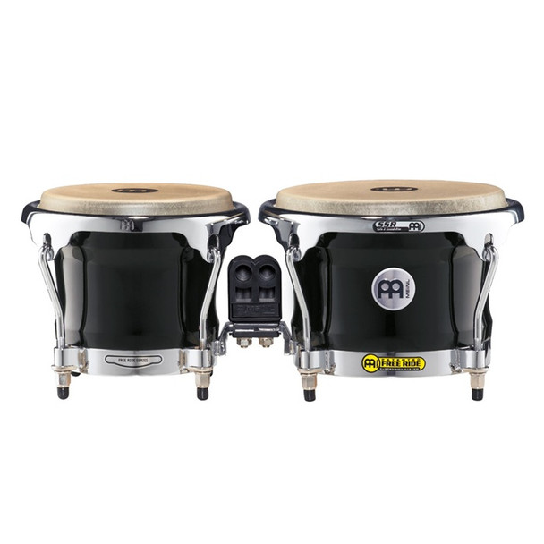 Meinl FWB400 Free Ride Series Wood Bongos - Ebony Black