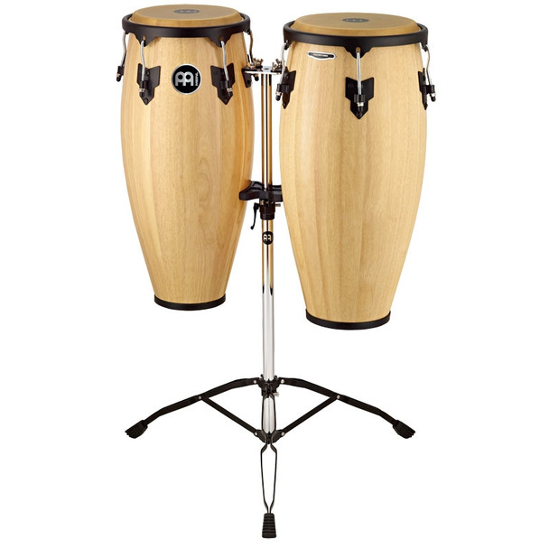Meinl Headliner Wood Conga Set, Natural w/ Double Stand (HC888NT)
