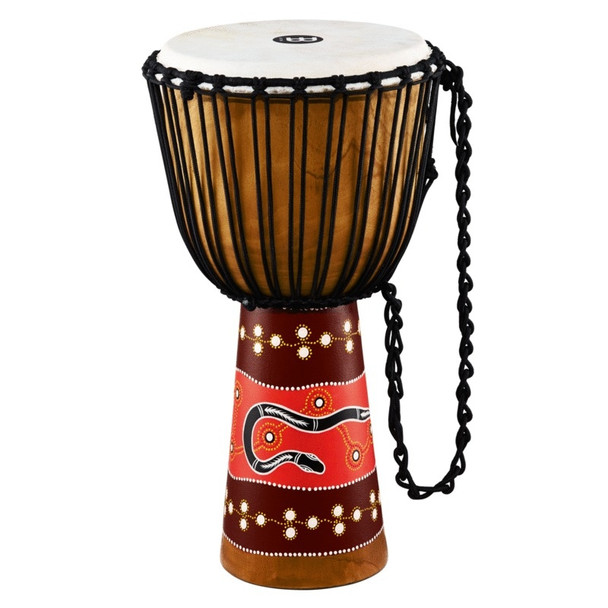 """Meinl Percussion HDJ5-XL Python Series Rope Tuned Mahogany Wood 13"""" Djembe with Goat Skin Head, Extra Large"""