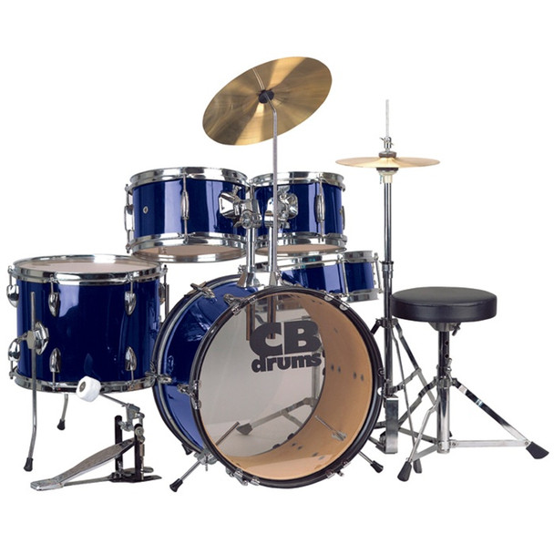 CB Junior 5-Piece Drum Set with Cymbals and Throne