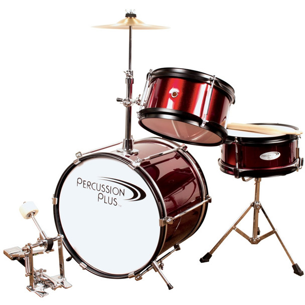 Percussion Plus 3-Piece Mini Drum Set with Cymbal