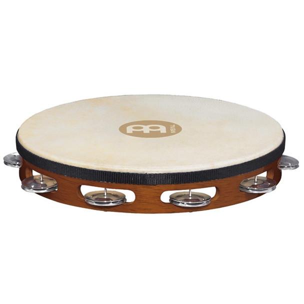 Meinl Headed Wood Tambourine, Aluminum Jingles