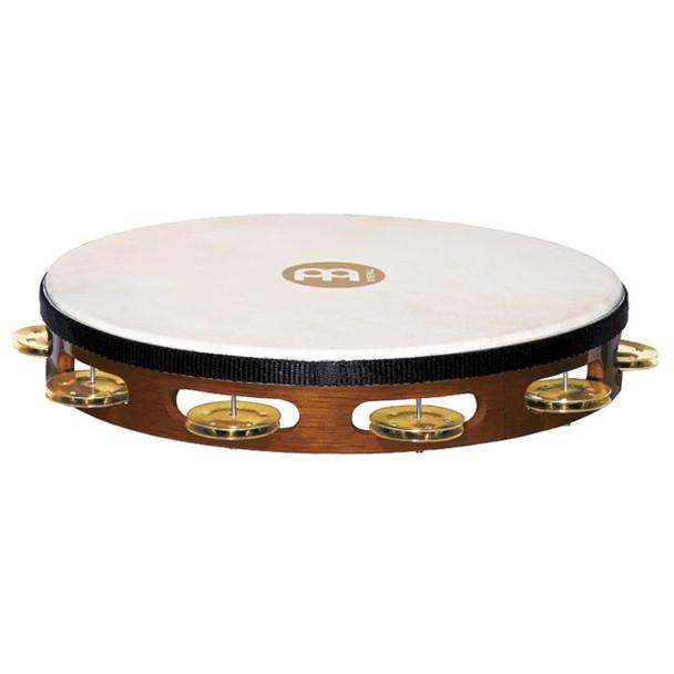 Meinl Headed Wood Tambourine, Brass Jingles