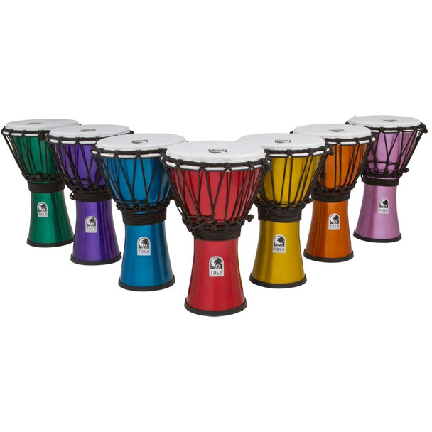 Toca Freestyle ColorSound Djembes, Set of 7 Colors