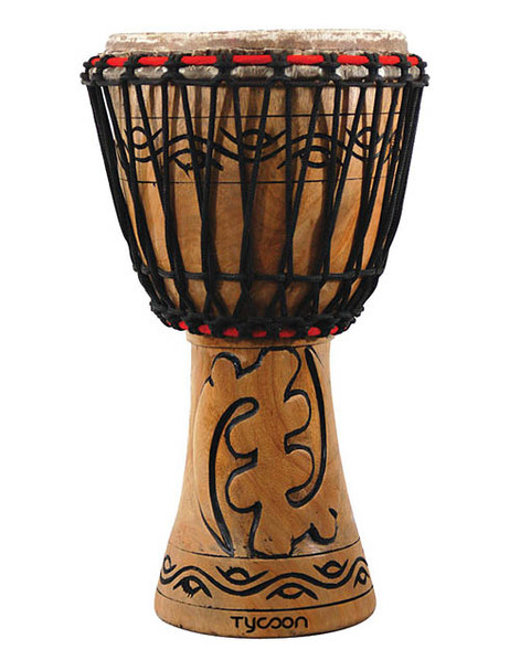 """Tycoon Percussion 10"""" Traditional Series African Djembe"""