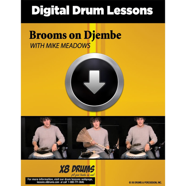 Drum Lesson Download: Brooms on Djembe