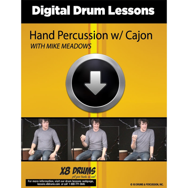 Drum Lesson Download: Using Hand Percussion with Cajon