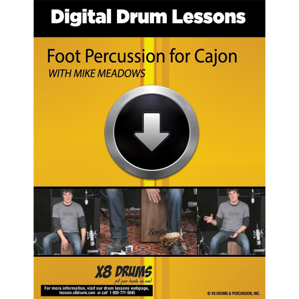 Drum Lesson Download: Cajon Foot Percussion Techniques
