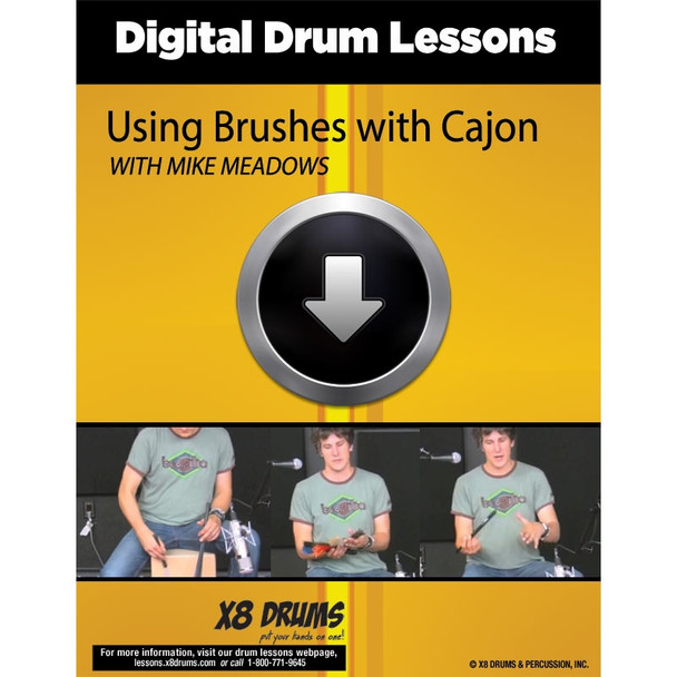 Drum Lesson Download: Using Brushes with Cajon