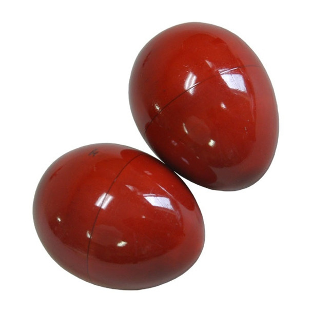 Red Wooden Egg Shakers, Pair
