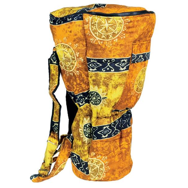 Djembe Drum Backpack, Gold Celestial Design