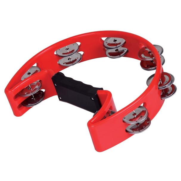 X8 Drums Crescent Tambourine, Red