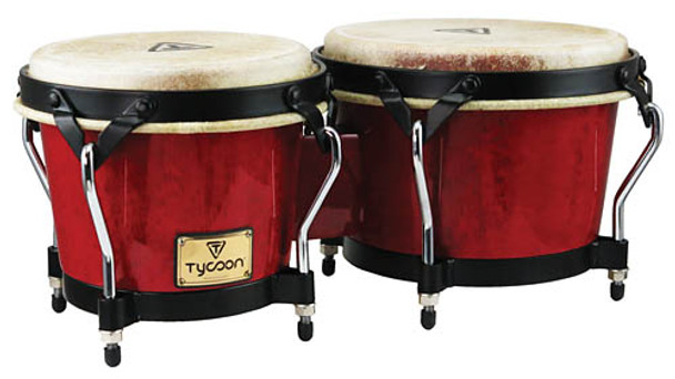 Tycoon Percussion Supremo Series Red Bongos