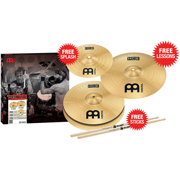 Meinl Three for FREE HCS Cymbal Pack