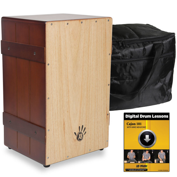 X8 Flamenco Crate Cajon, Two Tone