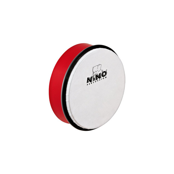 6-Inch ABS Plastic Hand Drum with Synthetic Head, Red