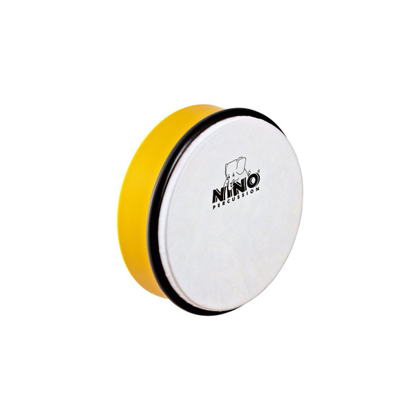6-Inch ABS Plastic Hand Drum with Synthetic Head, Yellow