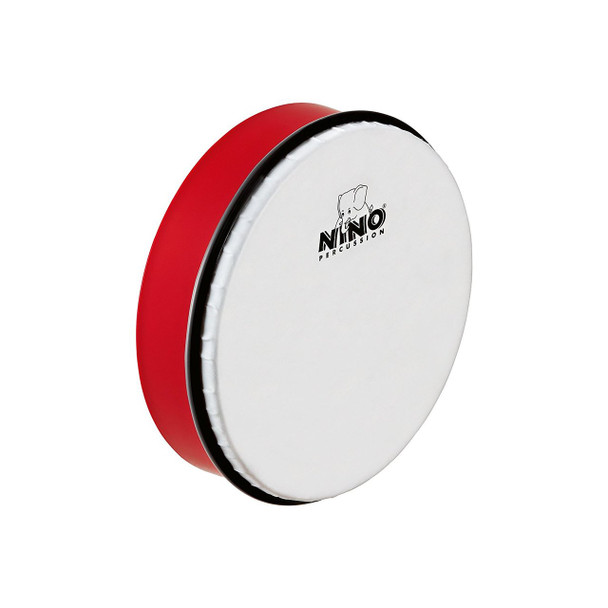 8-Inch ABS Plastic Hand Drum with Synthetic Head, Red