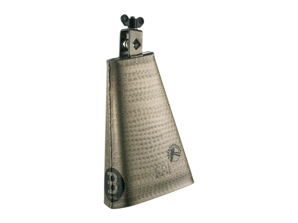 """8"""" Big Mouth Hand Hammered Steel Cowbell - Gold Color Finish"""