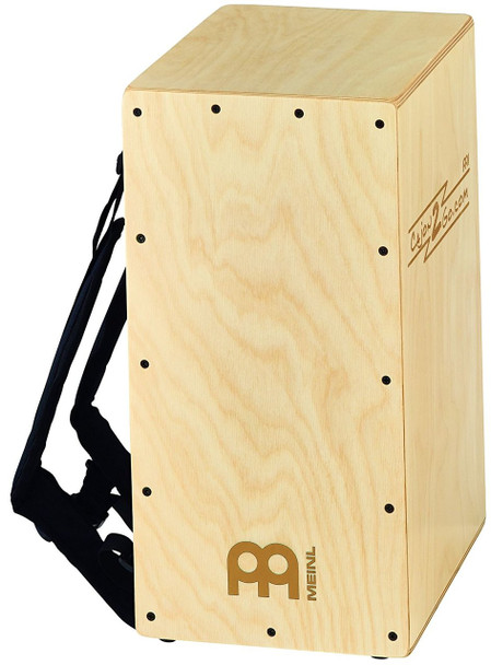 Meinl Percussion CAJ2GO-2 Backpacker Cajon with Internal Snares & Backpack Straps