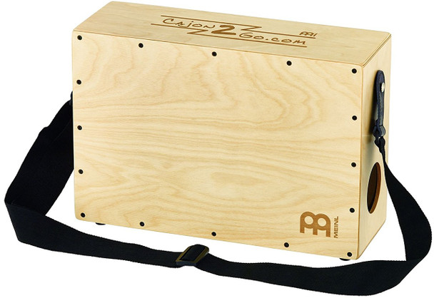 Meinl Percussion CAJ2GO-1 Stand Up Cajon with Internal Snares and Shoulder Strap
