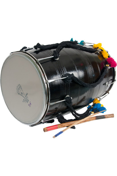"banjira Dhol w/ Synthetic Heads 14""x25"""