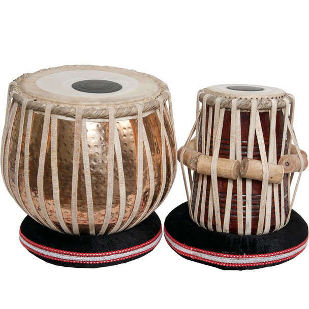 "banjira Pro Tabla Set Heavy Copper Bayan and 5.25"" Dayan"
