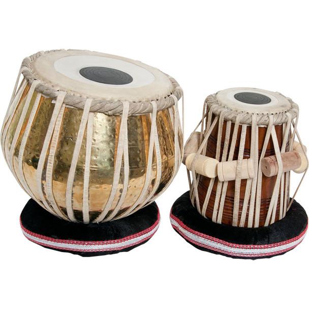 """banjira Pro Tabla Set Embossed Brass and 5.25"""" Dayan"""
