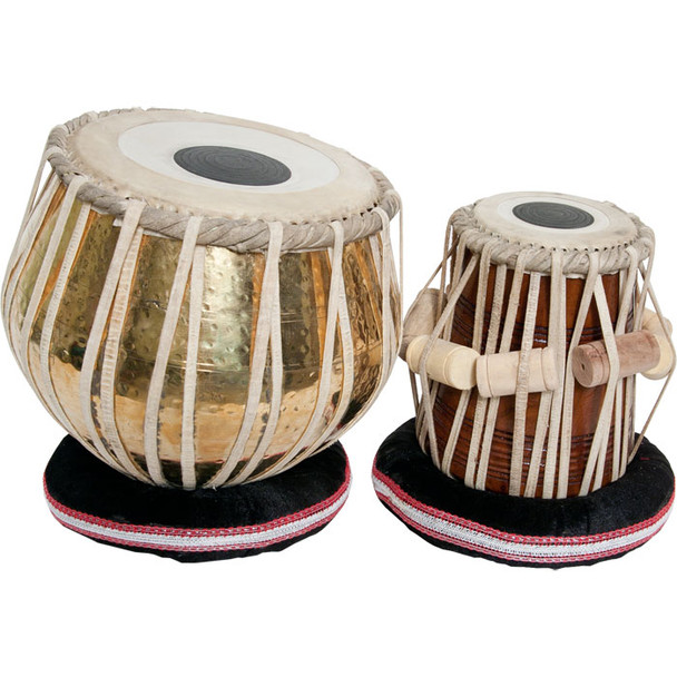 """banjira Pro Tabla Set Embossed Brass and 5.25"""" Dayan * Blemished"""