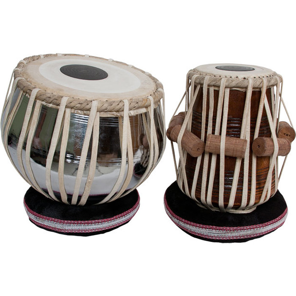 "banjira Pro Tabla Set Nickel Plated Brass Bayan and 5.50"" Dayan *Blemished"