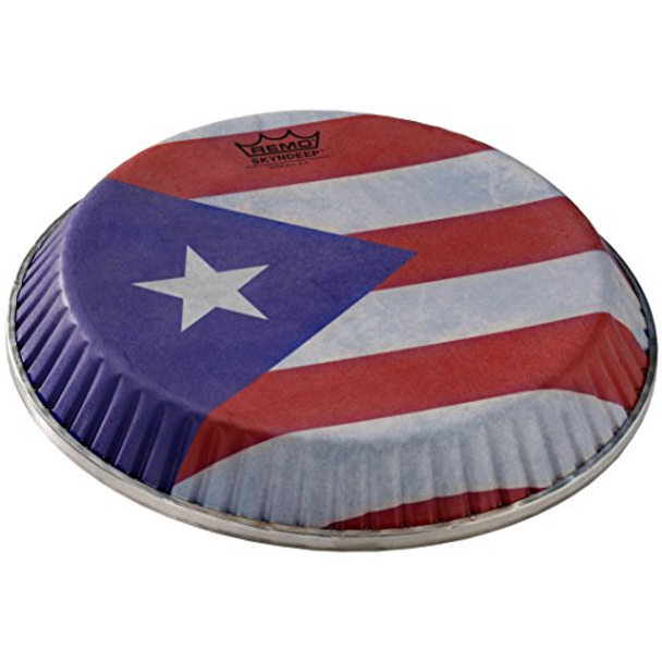 "Remo ""Puerto Rican Flag"" Graphic Conga Head"