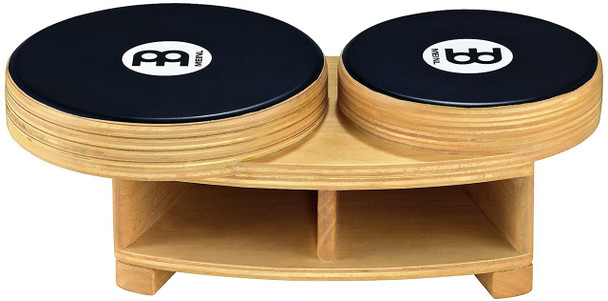 Meinl Percussion PBCA1NT/EBK-M Professional Bongo Cajon, Natural/Ebony Black