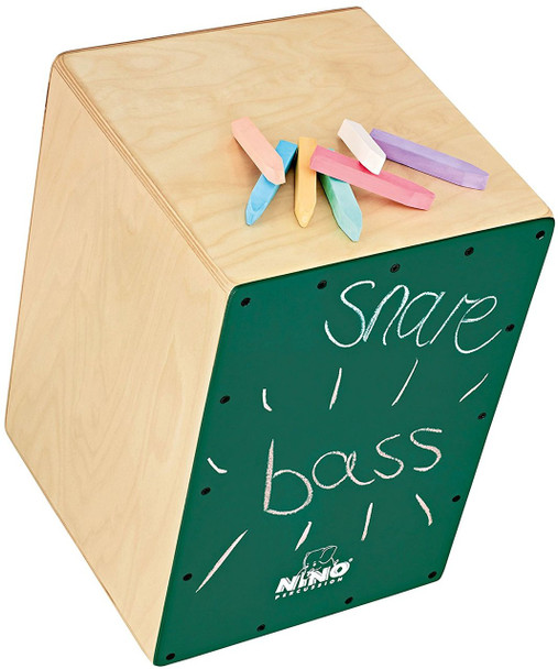 Nino Chalkboard Cajon with Internal Snares, Includes Pack of Chalk