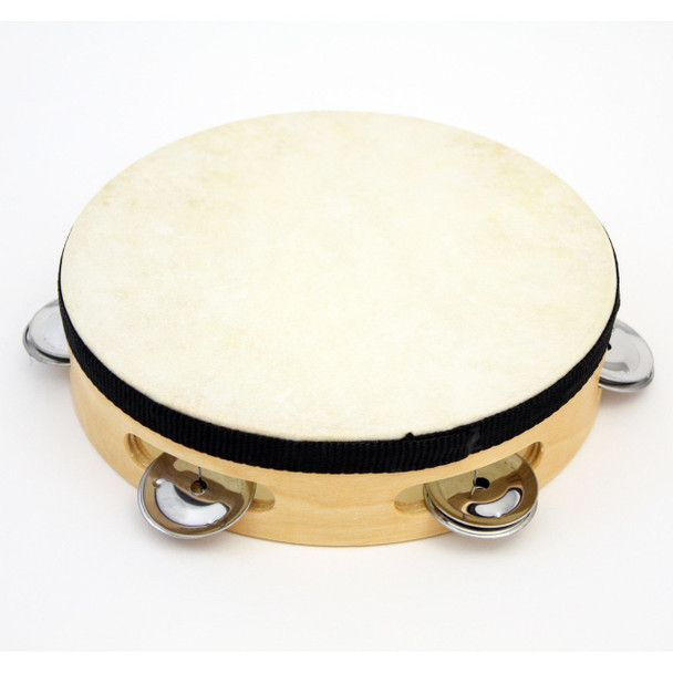 "7"" Tambourine Wood Tambourine with - 5 (pr) Jingles."