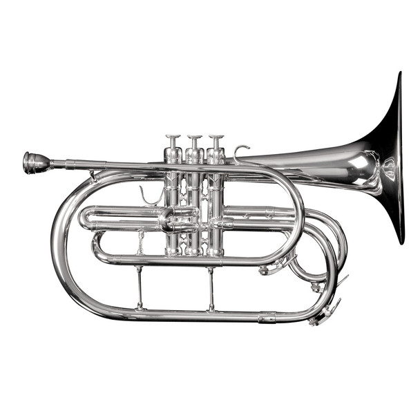 Adams Marching Mellophone w/ Case, Silver